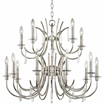 Crystorama 6039-PN-CL-MWP Cody Polished Nickel Clear Hand Cut Lighting Chandelier
