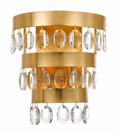 Crystorama 6102-GA Perla Antique Gold Wall Sconce