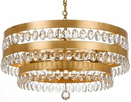 Crystorama 6108-GA Perla Antique Gold Hanging Chandelier