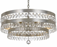 Crystorama 6108-SA Perla Antique Silver Chandelier Light