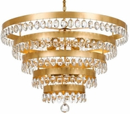 Crystorama 6109-GA Perla Antique Gold Chandelier Lighting