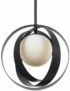 Crystorama 6461-MK Arlo Matte Black Hanging Light Fixture