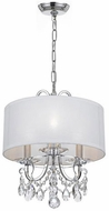 Crystorama 6623-CH-CL-MWP Othello Polished Chrome Drum Ceiling Light Pendant