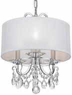 Crystorama 6623-CH-CL-S Othello Polished Chrome Clear Swarovski Strass Drum Drop Ceiling Lighting