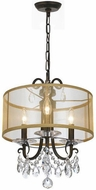 Crystorama 6623-EB-CL-MWP Othello English Bronze Drum Ceiling Pendant Light