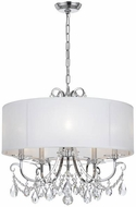 Crystorama 6625-CH-CL-MWP Othello Polished Chrome Drum Drop Ceiling Light Fixture