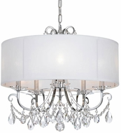 Crystorama 6625-CH-CL-S Othello Polished Chrome Clear Swarovski Strass Drum Ceiling Pendant Light