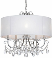Crystorama 6625-CH-CL-SAQ Othello Polished Chrome Clear Spectra Drum Drop Ceiling Light Fixture