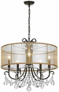 Crystorama 6625-EB-CL-MWP Othello English Bronze Drum Drop Lighting Fixture