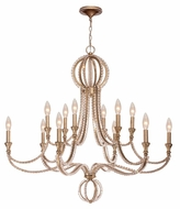 Crystorama 6769-DT Garland Distressed Twilight Hanging Chandelier