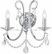 Crystorama 6822-CH-CL-S Othello Polished Chrome Clear Swarovski Strass Wall Sconce Lighting