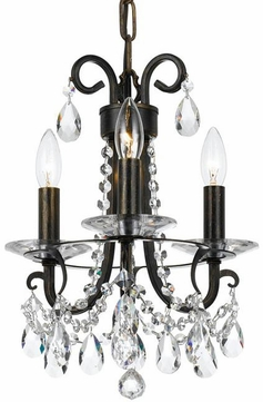 Crystorama 6823-EB-CL-MWP Othello English Bronze Clear Hand Cut Mini Hanging Chandelier