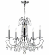 Crystorama 6825-CH-CL-MWP Othello Polished Chrome Mini Lighting Chandelier