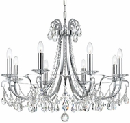 Crystorama 6828-CH-CL-S Othello Polished Chrome Clear Swarovski Strass Chandelier Lighting