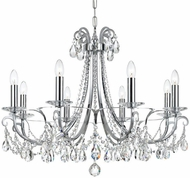 Crystorama 6828-CH-CL-SAQ Othello Polished Chrome Clear Spectra Lighting Chandelier