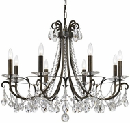 Crystorama 6828-EB-CL-MWP Othello English Bronze Clear Hand Cut Chandelier Lamp