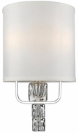 Crystorama 6832-CH Addison Polished Chrome Glass Ice Cubes Lighting Wall Sconce
