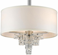 Crystorama 6833-CH Addison Polished Chrome Glass Ice Cubes Drum Drop Lighting Fixture