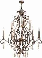 Crystorama 7529-DT Shelby Distressed Twilight Hanging Chandelier