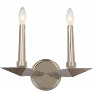 Crystorama 7592-PN Palmer Contemporary Polished Nickel Light Sconce