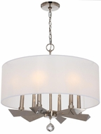 Crystorama 7596-PN Palmer Modern Polished Nickel Drum Pendant Light Fixture