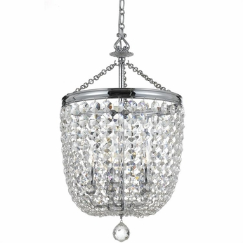 Crystorama 785-CH-CL-S Archer Polished Chrome Clear Swarovski Strass Foyer Lighting Fixture