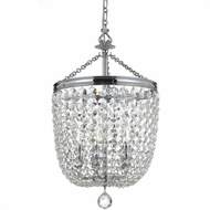 Crystorama 785-CH-CL-SAQ Archer Polished Chrome Clear Spectra Entryway Light Fixture