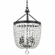 Crystorama 785-VZ-CL-MWP Archer Vibrant Bronze Clear Hand Cut Foyer Lighting