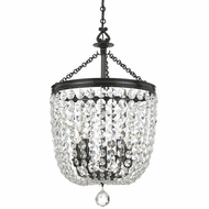 Crystorama 785-VZ-CL-S Archer Polished Chrome Clear Swarovski Strass Foyer Light Fixture