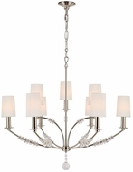 Crystorama 8009-PN Mirage Polished Nickel Chandelier Lighting