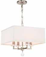 Crystorama 8105-PN Paxton Polished Nickel Hanging Pendant Light