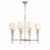 Crystorama 8108-PN Paxton Polished Nickel Lighting Chandelier