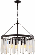 Crystorama 8406-FB Hollis Forged Bronze Ceiling Chandelier