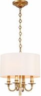 Crystorama 8704-AG Lawson Aged Brass Drum Hanging Light Fixture