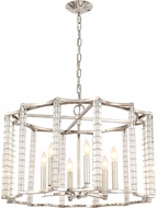 Crystorama 8856-PN Carson Polished Nickel Lighting Chandelier