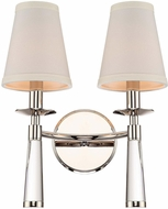 Crystorama 8862-PN Baxter Polished Nickel Wall Mounted Lamp