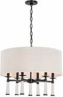 Crystorama 8866-OR Baxter Oil Rubbed Bronze Drum Ceiling Light Pendant