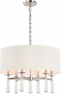 Crystorama 8866-PN Baxter Polished Nickel Drum Ceiling Pendant Light