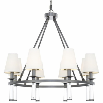 Crystorama 8867-OR Baxter Modern Oil Rubbed Bronze Chandelier Light