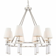 Crystorama 8867-PN Baxter Contemporary Polished Nickel Ceiling Chandelier