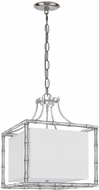 Crystorama 9015-SA Masefield Modern Antique Silver 19  Drop Lighting Fixture