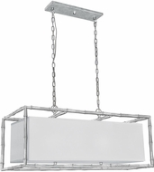 Crystorama 9017-SA Masefield Contemporary Antique Silver Kitchen Island Lighting