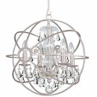 Crystorama 9025-OS-CL-S Solaris Olde Silver Clear Swarovski Strass Mini Chandelier Light
