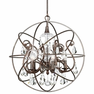 Crystorama 9026-EB-CL-S Solaris English Bronze Clear Swarovski Strass Mini Chandelier Lighting