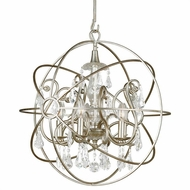 Crystorama 9026-OS-CL-S Solaris Olde Silver Clear Swarovski Strass Mini Lighting Chandelier