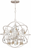 Crystorama 9026-OS-GS-MWP Solaris Olde Silver Mini Ceiling Chandelier