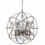 Crystorama 9028-EB-CL-S Solaris English Bronze Clear Swarovski Strass Chandelier Lamp