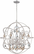 Crystorama 9028-OS-GS-MWP Solaris Olde Silver Chandelier Light