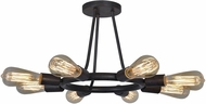 Crystorama 9043-CZ Dakota Charcoal Bronze Ceiling Light Fixture