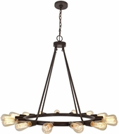 Crystorama 9046-CZ Dakota Charcoal Bronze Lighting Chandelier